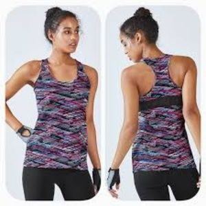 Fabletics Mary Tank in Digital Print/Black